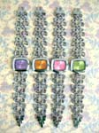 Jewelry warehouse supply importer. China made Silver plated butterfly designed chain on colorful fashion watch