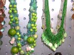 Buy designer jewelry gift at wholesale price from export agent. Long necklace with multi sized beads and shells