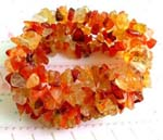 Fashion accessory wholesale company supplying Fashion wide stretchy bracelet with multi orange and yellow crystal chips inlaid, one size fits all