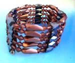 China made therapy hematite wraps supplied wholesale. Buy Brown beaded gems, long brown cylinder beads and faceted cylinder shape magnetic hematite beads inlaid. Can be a necklace, bracelet,or arm band