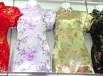 Embroidered Chinese women's dress with summer scene design