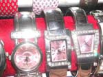 Assorted pinky bangle watch with mini clear cz design