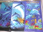 Assorted colorful dolphin towels