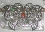Clear cz butterfly belt buckle