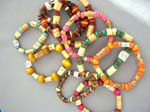 Vacation wear jewelry sholesaler imports unique Trendy stretchy wooden bead bracelets