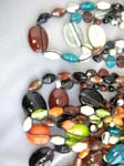Vacation boutique import distributor, Ladies trendy stone and blown glass bead necklace