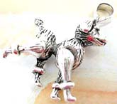 Little dog design sterling silver pendant with head, legs and tail movable