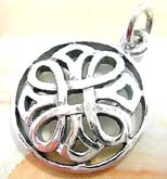 925. sterling silver pendant in Celtic knot in circle design
