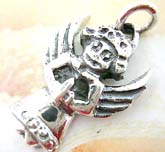 Holy angel figure design sterling silver pendant