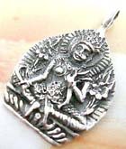 Indonesia buddha figure design sterling silver pendant